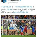 #PortogalloFrancia: La Repubblica celebra il gol di Eder