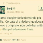 Benji Mascolo su #BenjieFedeAnswerTime