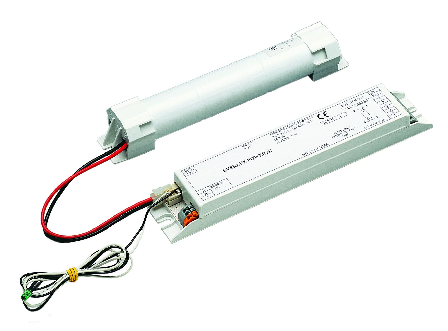 Plafoniere Per Navi : Evx power ac kit illuminazione emergenza per plafoniere con tubo