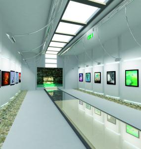 Lys Led - installazione in museo
